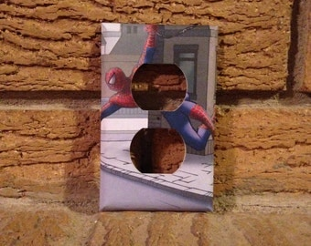 Spiderman Electrical Outlet Cover, Spiderman Decoration, Spiderman Superhero, Comic Book