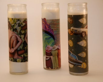 Collage Votive Candles