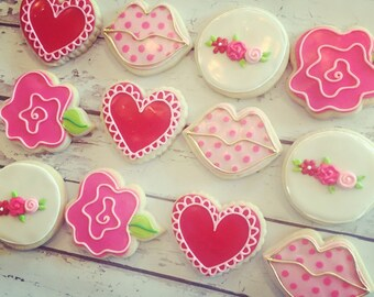 Large Valentines Assorted Cookies