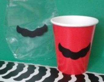Mario Mustache Inspired Vinyl Stickers for Party Favor