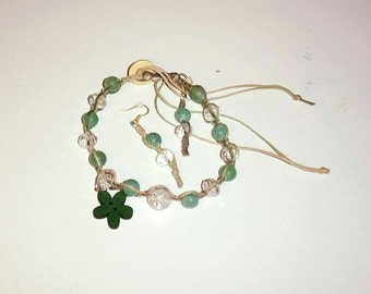 Camo Gemstone & Crystal Bracelet Set