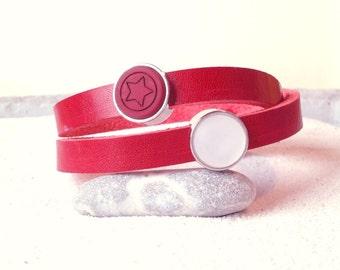 Cuoio leather bracelet Polaris Star