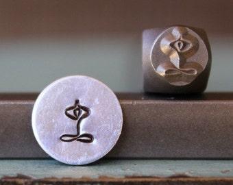 Brand New 6mm Yoga Symbol Metal Design Stamp - Metal Stamp - Metal Stamping and Jewelry Tool - SGCH-91