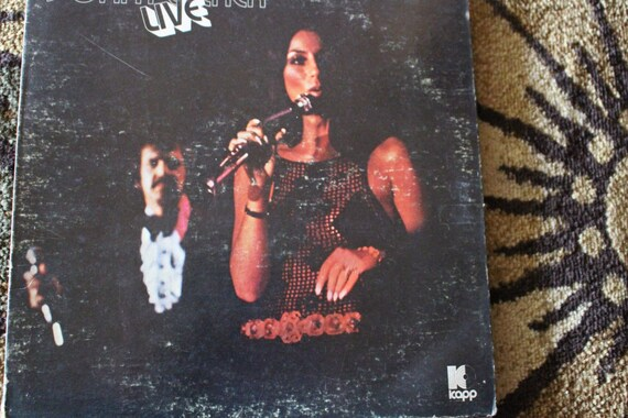 David Jones Personal Collection Record Album - Sonny and Cher - Live