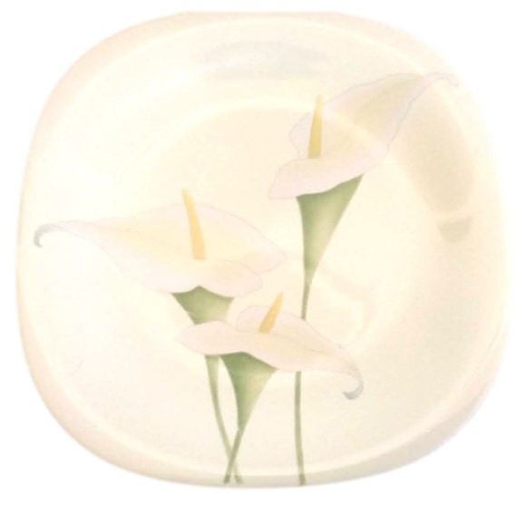 Mikasa China Plates For Easter -  Set of 4 Salad Plates with Easter Calla Lillies