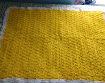 Baby blanket, stroller blanket, Bassett blanket, afghan lot 128