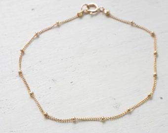 Gold bracelet,dainty bracelet,minimalist bracelet,satellite chain,tiny bracelet,delicate bracelet,gift for her -21186