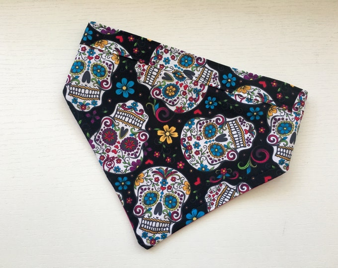 Sugar Skull dog bandana