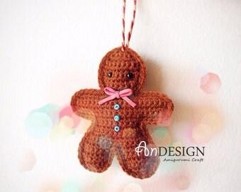 GingerBreadMan ornament - PDF Crochet Pattern