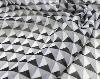 Steel Square Pattern Chiffon Fabric by the Yard Style 8050