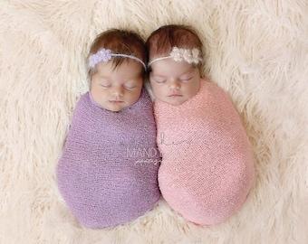 BUY 2 & SAVE! Tiny Blooms Mohair Tieback - newborn prop, 3 months prop,  flower headband many colors