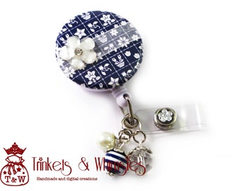 Midnight Kiss Retractable ID Badge Holder