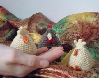 US crochet pattern for chicken and chick / pdf / instant download / Spring gift