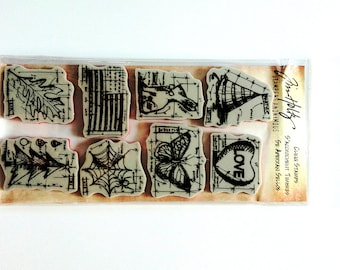 Tim Holtz Rubber Cling Stamp - Happy Everything Blueprints THJ011