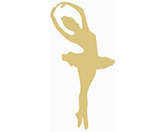BALLERINA Unfinished Wooden Craft Shape, Do-It-Yourself