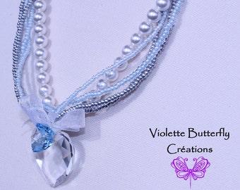 Crystal Heart Necklace, Swarovski crystal - Collier High Fantasy