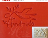 "Hot Sale! Handmade Cookie Stamp Seal Soap Stamp - Bird Plants ""Handmade"""