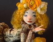 """Reserved Art doll OOAK """"The sunny girl"""""""
