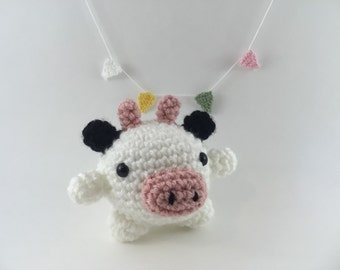 Mini amigurumi cow, amigurumi cow, crochet cow, tiny cow, cow,kawaii, small cow, cow plush, cow plushie, under 15, stuffed animal