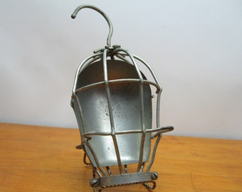 trouble light metal cage vintage drop safety shop lamp wire work mcgill
