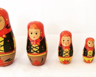 Russian Matryoshka Dolls, painted wood nesting dolls, Russian dolls
