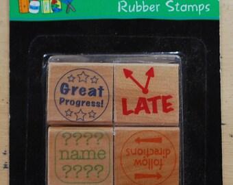 teacher's rubber stamp set