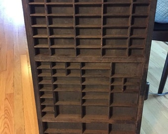 Vintage Wood Hamilton Printers Tray Shadow Box