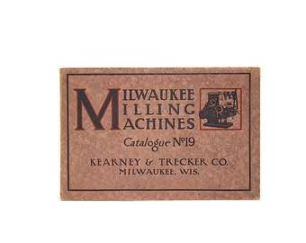 Vintage Industrial Machinery Catalog - Milwaukee Milling Machines Catalog - American Industrial History - Antique Catalog - Industrial Art