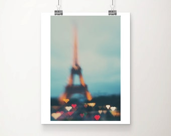 Paris photograph Eiffel Tower photograph heart photograph Paris decor Paris print Eiffel Tower print travel photography wanderlust art