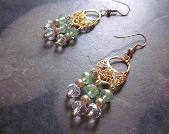 Golden Chandelier Earrings