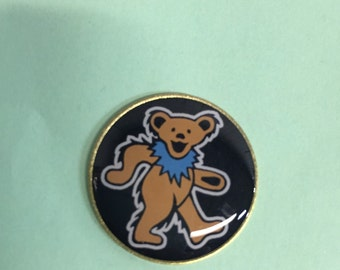 Grateful Dead Dancing bear lapel pin