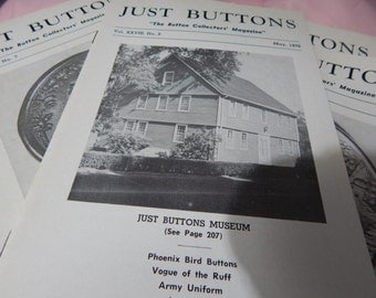 Just Buttons 1970 Complete 12 issues