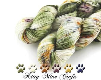 Phat Fiber Sock Yarn in Sir Wooliam the Sheepish - 60/ 30/ 10 blend Superwash Merino Wool, Bamboo & Nylon - 4oz/ 113g - 430yds/ 393m - Knit