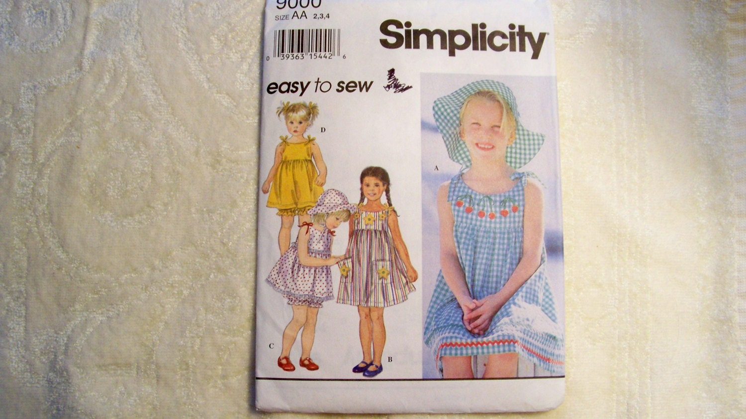 5782752f943b Simplicity Pattern - 9000 - Child s Dress Or Top