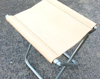 Minimaliste Leather Folding Camping Stool / Camp Bench / Fishing Stool