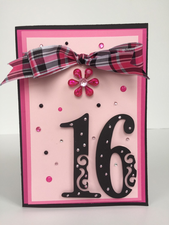 sweet  card handmade birthday card girls birthday th, Birthday card