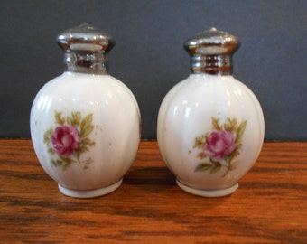Moss Rose Salt and Pepper Shakers