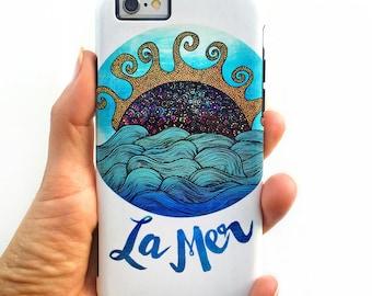 La Mer - Ocean Calligraphy Art Phone Case for iPhone 7, 6, 5, 5c & Samsung Galaxy S7