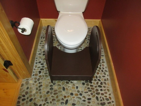 Deluxe Wood Potty Step Stool Espresso