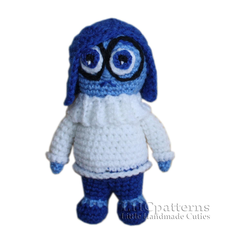 Inside Out Sadness Crochet Toy PDF Pattern