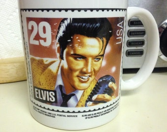 Elvis Postage Stamp Commemorative Mug