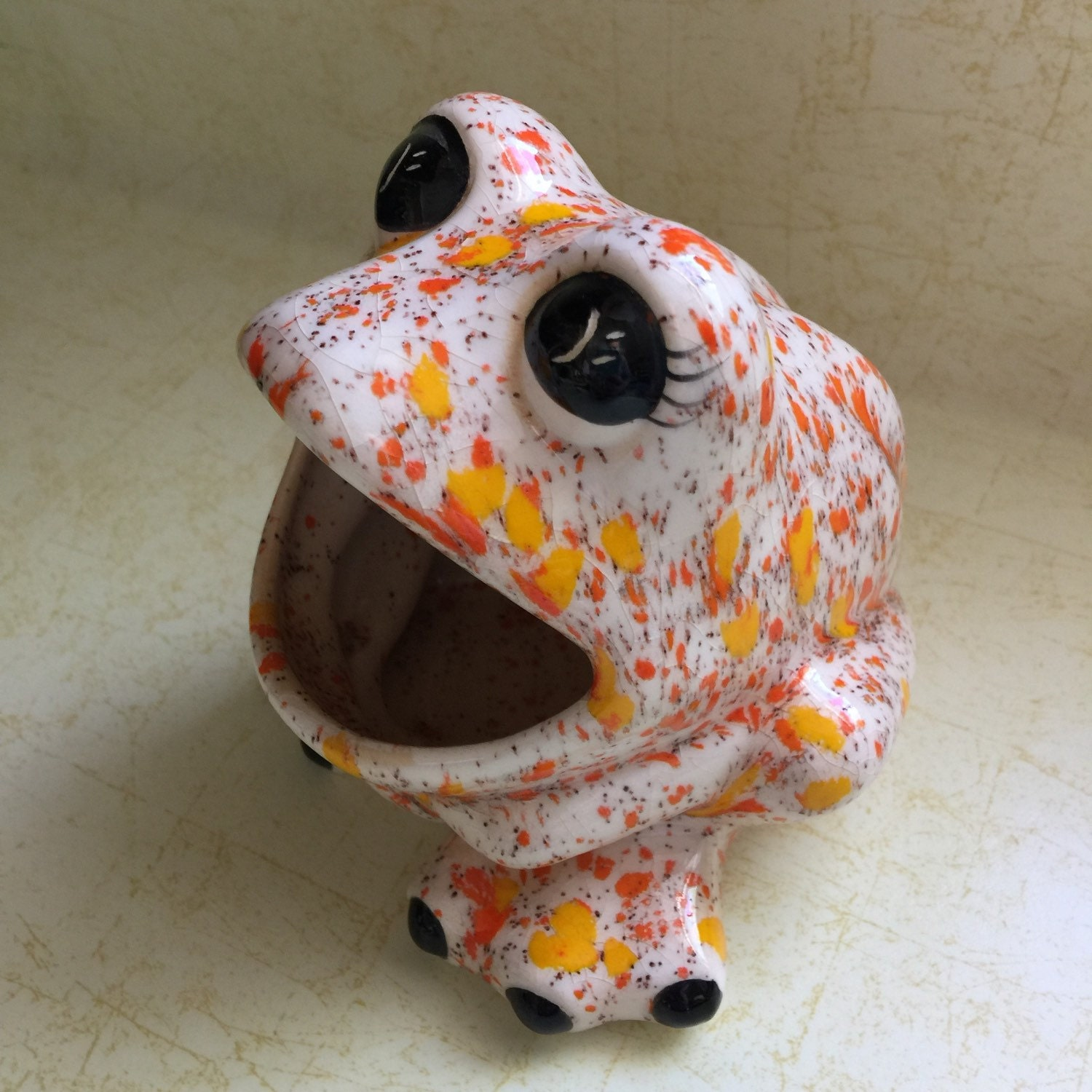 Srubby For Kitchen: Vintage Ceramic Frog Scrubby Holder Kitchen By