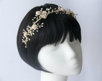 Giselle Floral Wedding Headdress, Bridal Headband, Wedding Tiara, Bridesmaids Headdress, Floral Headband, Bridal Headdress.