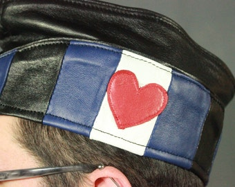 Leather Pride Leather Garrison Cap