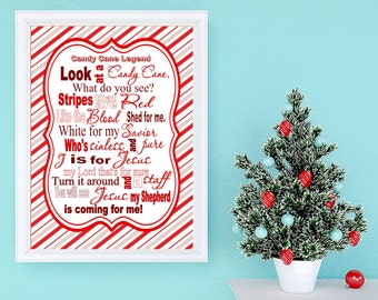 Candy Cane Legend printable-- Instant Download
