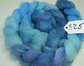 Hand dyed Cheviot Roving 4 Ounces Inv 325