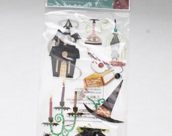 EK Success Embellishment Jolee's Boutique - Potions - 3d Stickers - Holloween Stickers