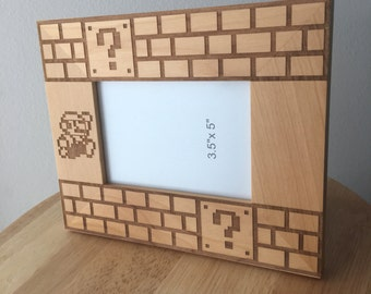 Wood Super Mario Picture Frame