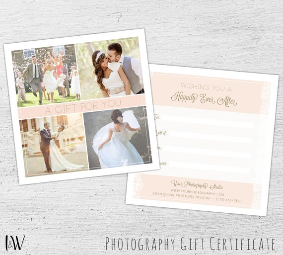 Photography Gift Certificate Wedding Photography Photoshop