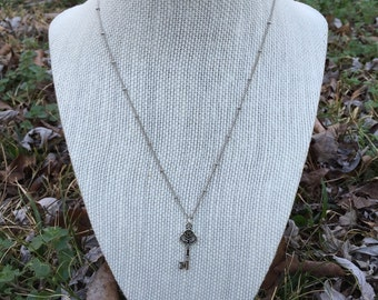 Silver Key Necklace